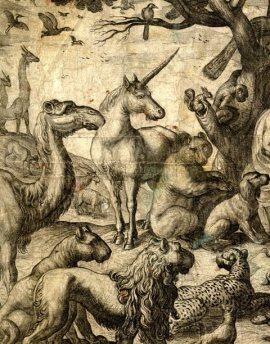 """Immagine di un particolare di """"Orfeo che incanta gli animali"""""""
