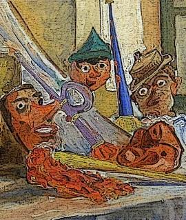Dipinto Le Maschere