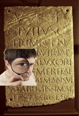 Sezione1 iscrizione romana
