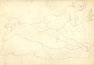Figure di nudi disegnate da Luca Crippa