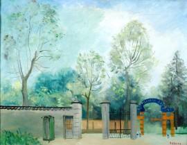 """Umberto Lilloni """"Ingresso al Parco di Monza"""""""