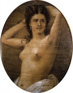 Nudo femminile a pastello di Induno