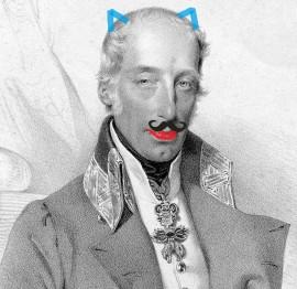 Ritratto di Ranieri d'Asburgo modificato