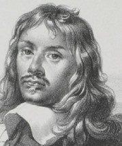 """Ludovico Aureli """"Ritratto di artista"""" metà '800; particolare"""