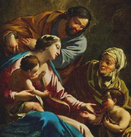 """Michel Dorigny """"Sacra Famiglia con Santa Elisabetta e San Giovannino (part.)"""