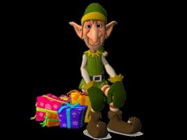 Elfo con regali