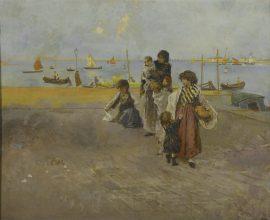 Mosè Bianchi, Fondamenta a Chioggia inv. 6993picc