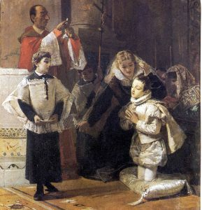 "Mosè Bianchi ""Comunione di S. Luigi Gonzaga"""