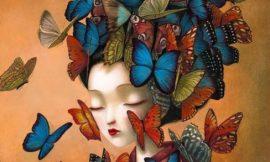 Volantino.Donne farfalla