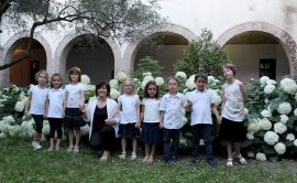 Fotografia del coro delle voci bianche