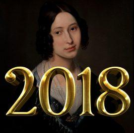 """Hayez Ritratto di signora con scritta """"2018"""""""