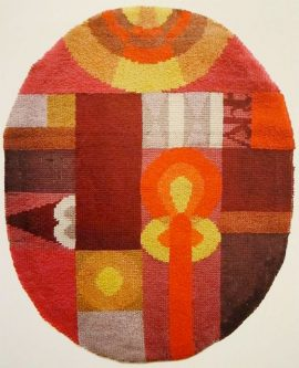 "Sophie Taeuber ""Oval Composition with Abstract Motifs"", 1922"