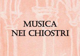 """Copertina libretto con dicitura """"Musica nei chiostri"""""""