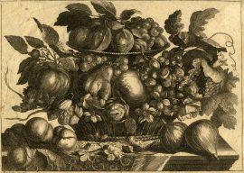 Ambito francese Natura morta con frutta Prima metà sec. XVIII