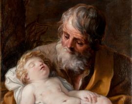 31.Cerchia di Guido Reni – San Giuseppe con il Bambino dormientepart